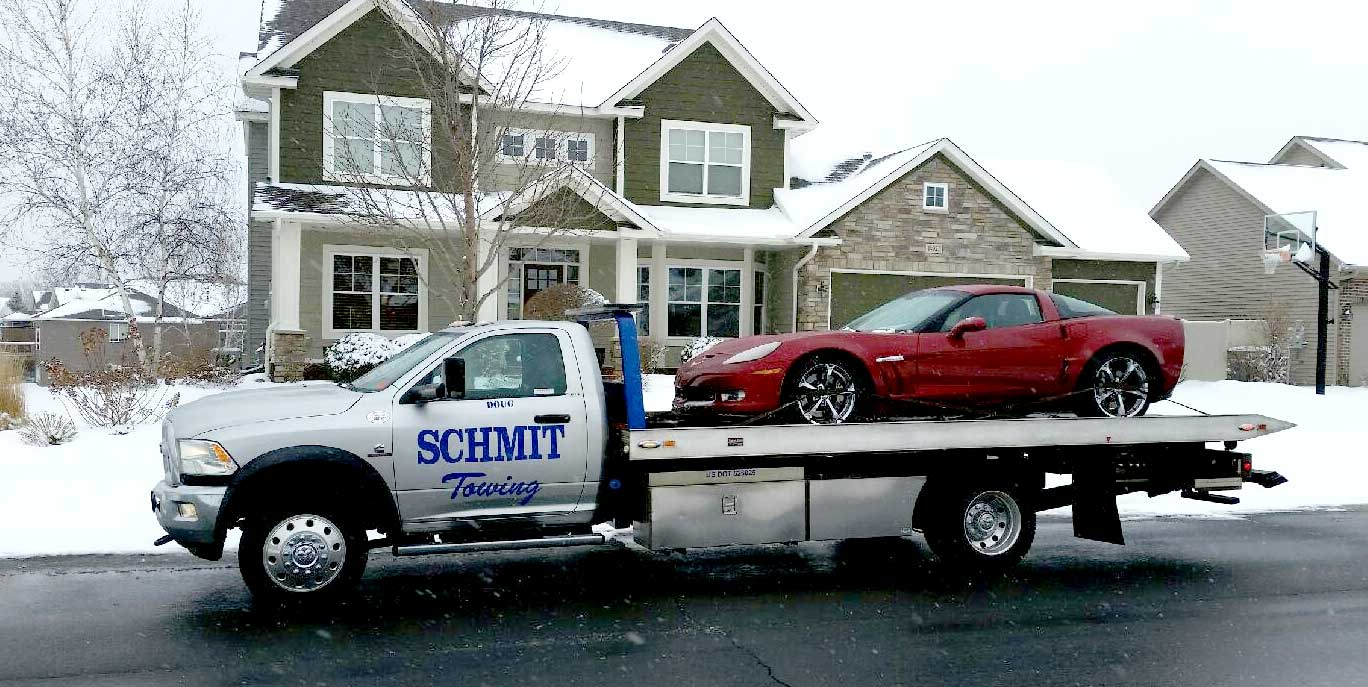 Twin cities suburbs towing schmit towing for Allstate motor club towing
